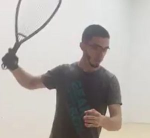 Get out of your own way racquetball swing
