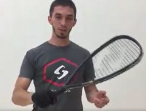 How to grip the racquetball racquet