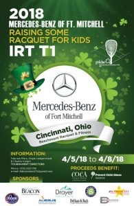 2018 IRT T1 Mercedes Benz of Ft. Mitchell Raising Some Racquet for Kids: